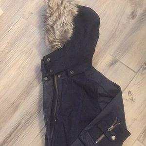 Timberland faux fur coat Navy XS